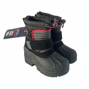 Khombu Boys Snow Winter Boots Sz 6 M Black NWT